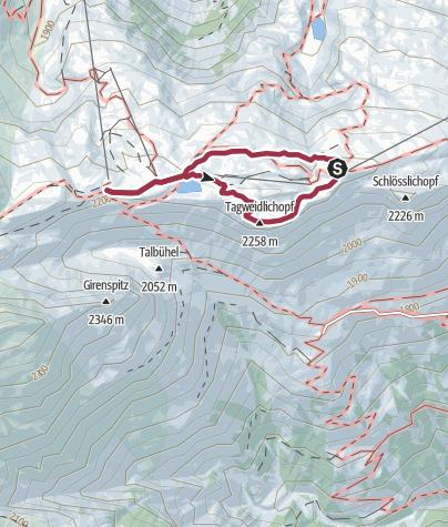 Karte / Pizol Panorama Höhenweg