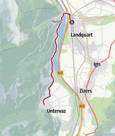 Karte / Landquart - Mastrils - Untervaz