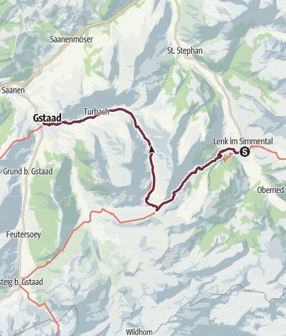 Map / Via Alpina: Lenk - Gstaad