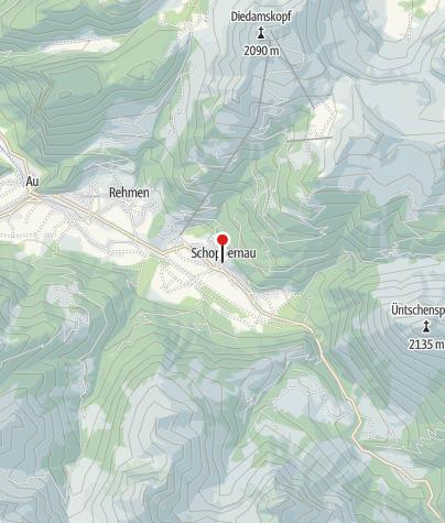 Karte / Pfarrkirche Schoppernau