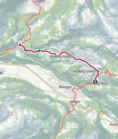Karte / Panoramaweg Hasliberg