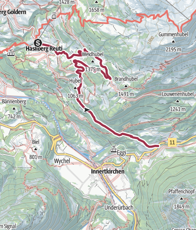 Karte / Hasliberg Reuti - Innertkirchen