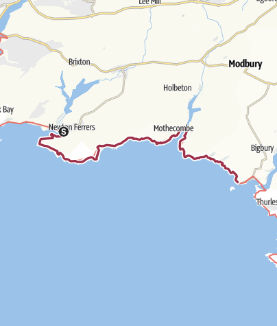 Map / Noss Mayo to Bigbury-on-Sea