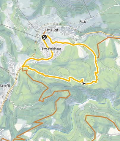 Map / Flimser roundtour, official trail no. 245