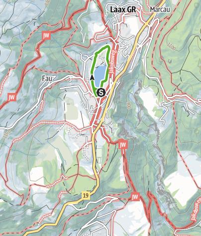 Karte / Laaxersee (Rundgang)