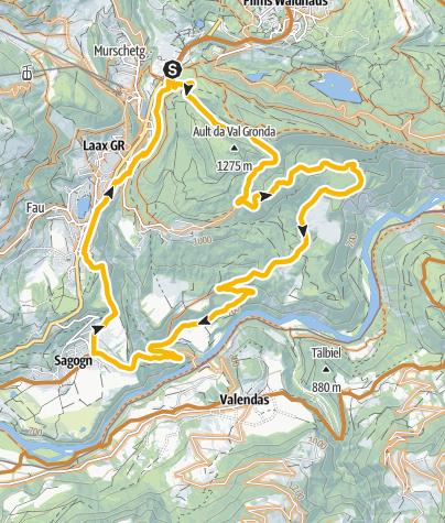 Karte / Rheinschlucht - Sagogn ( 243)