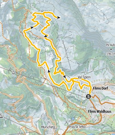 Map / Startgels - Runca, official trail no. 244