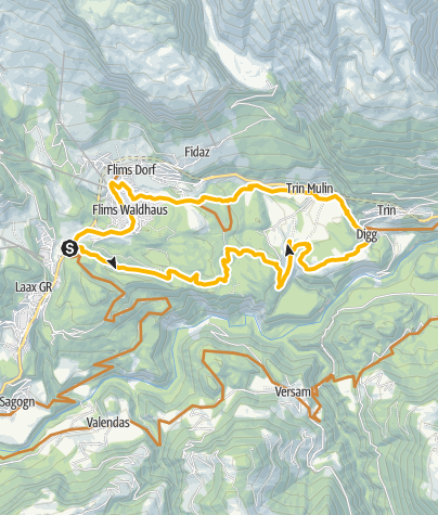 Map / Trin Digg - Crestasee, offcial trail no. 246