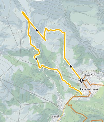 Kaart / Nagens - Plaun