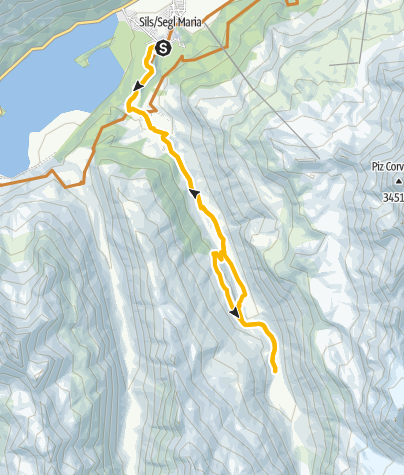 Karte / Sils Maria - Val Fex - Plaun Vadret - Sils Maria