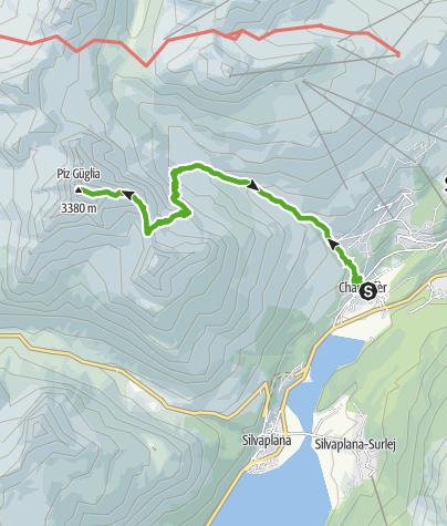 Karte / Hoch über den Seen - Piz Julier