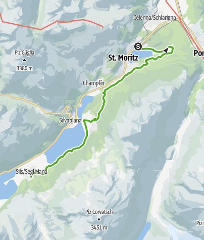 Karte / Smaragdweg St. Moritz - Sils