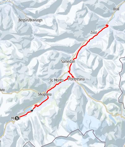 Kaart / Engadin Skimarathon