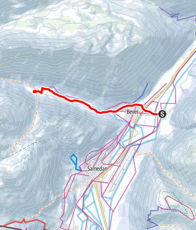Karte / Bever - Spinas