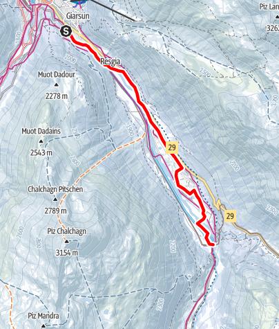 Map / Pontresina - Morteratsch