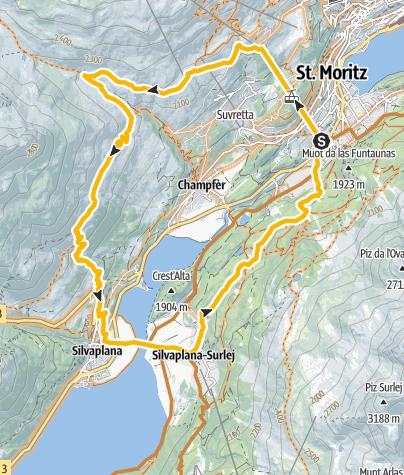 Map / Julier Panoramatrail