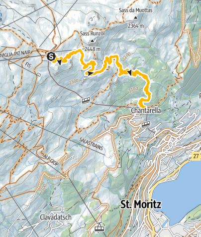 Map / Corviglia / Olympia Flow Trail