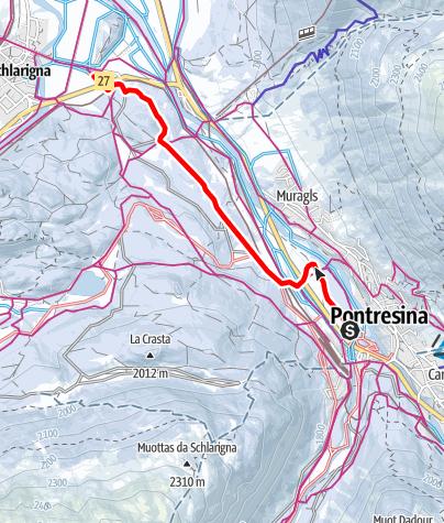 Map / Pontresina - Celerina