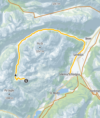 Karte / Piz Nair-Val Bever-Celerina