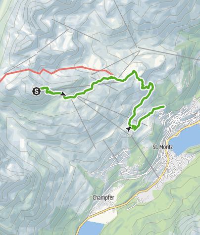 Karte / Piz Nair - Corviglia - Chantarella