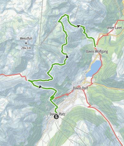 Karte / Panoramaweg (Schatzalp - Wolfgang)