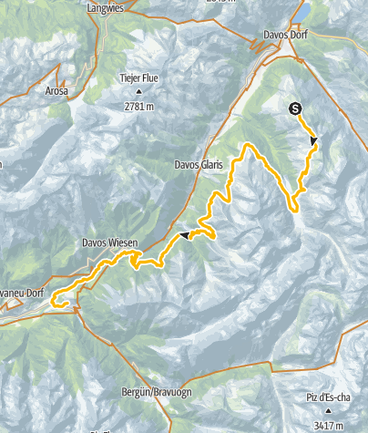 Map / Alps Epic Trail Davos (suitable for E-MTB)