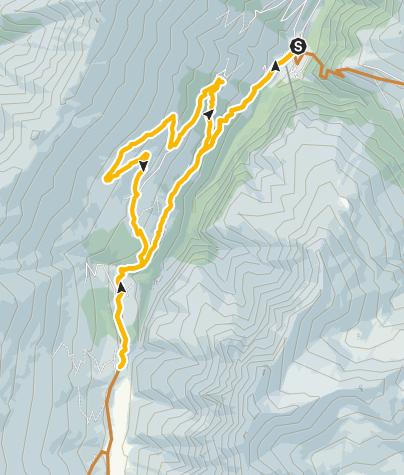 Karte / Safiental - Camaner Hütta