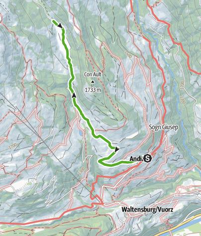 Karte / Bachlandschaft Ladral
