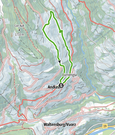 Karte / Andiaster Maiensässe