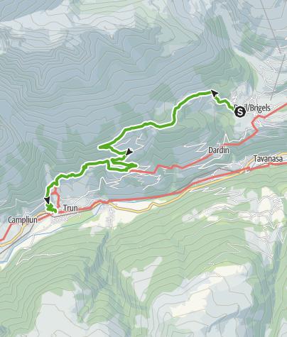 Map / Wanderung Wallfahrtskirche Maria Licht Trun