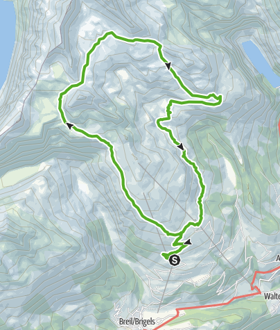 Karte / Falla Lenn & Steinlandschaft Cavorgia da Vuorz