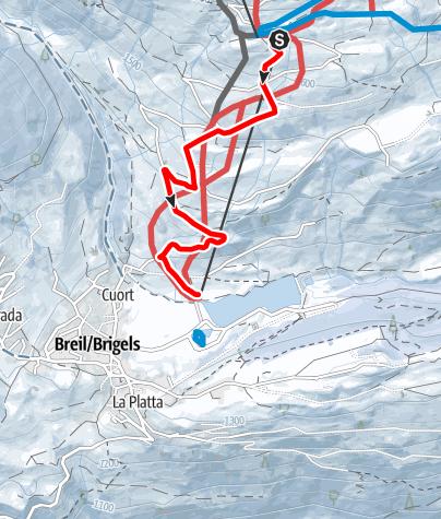 Karte / Schlitteln Crest Falla - Breil-vitg