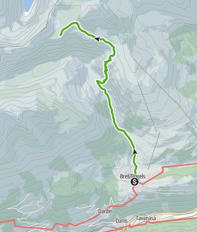 Karte / Kronenwanderung: Brigels - Bifertenhütte