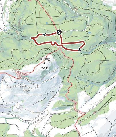 Karte / Waldlehrpfad Heuberg
