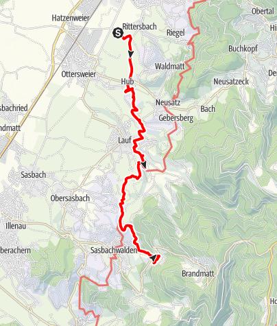 Karte / Ortenauer Friedenspilgerweg