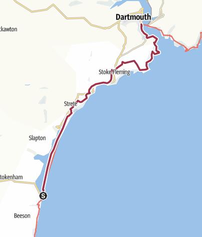 Map / Torcross to Dartmouth