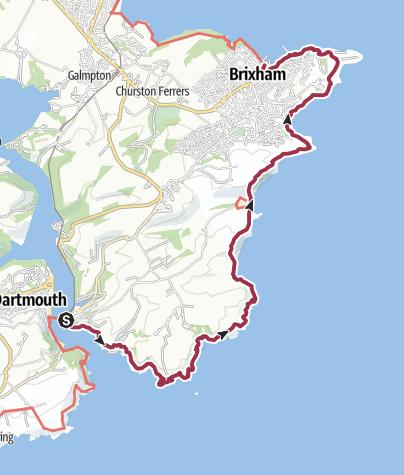 Map / Dartmouth to Brixham