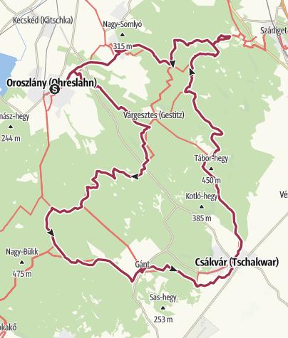Map / Vérkör (Hetvenhét kilométer a Vértesben)