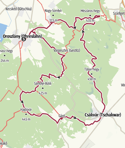 Karte / Vérkör (Hetvenhét kilométer a Vértesben)