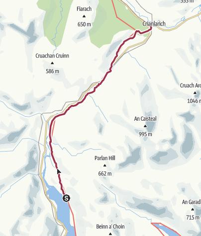 Map / Ardlui to Crianlarich