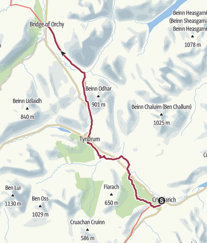 Map / Crianlarich to Bridge of Orchy