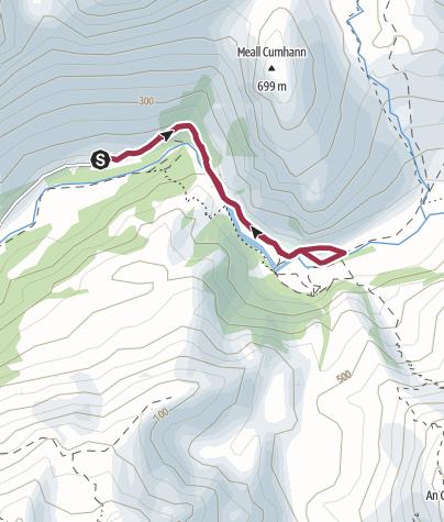 Map / Steall Falls & Nevis Gorge Walk