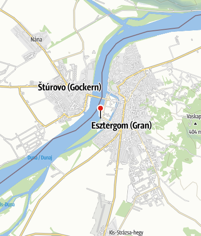 Mapa / Vízreszálló, érkező (Esztergom, Prímás-sziget)