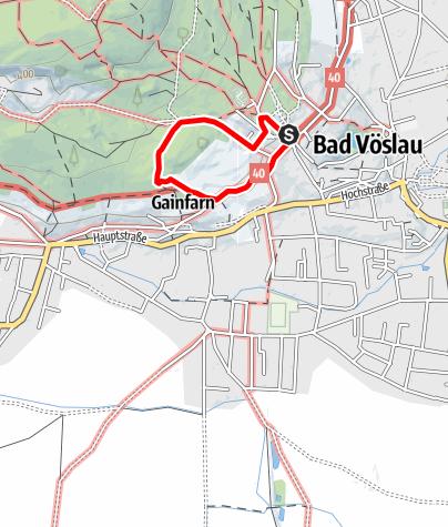 """Karte / """"Tut Gut"""" Schrittweg - gewidmet von Vöslauer Thermalbad"""