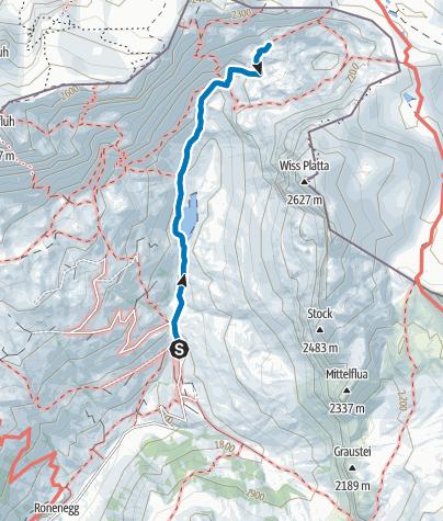 Karte / Klettergarten Gruoben Grüenwändli (Rätikon Ost)