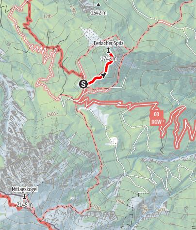 Karte / Von der Bertahütte auf die Ferlacher Spitze (1.742 m)