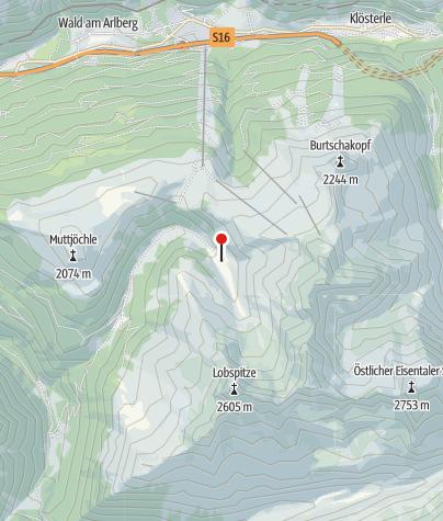Karte / Obere Wasserstubenalpe