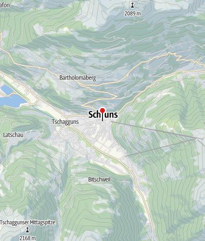 Karte / Kirchplatz Schruns