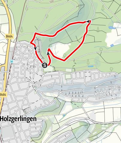 Karte / Holzweg Holzgerlingen