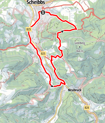 Karte / Töpperweg - von Schloss zu Schloss